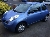 LOW MILEAGE Nissan Micra, 2004, 12 months MOT, very good condition