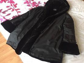 Dennis basso ladies reversible coat
