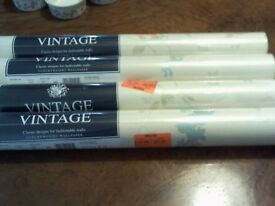 4 NEW AND SEALED ROLLS OF FUCHSIA AQUA WALLPAPER - ARTHOUSE VINTAGE - 'LUXURYWEIGHT'