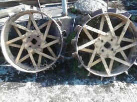 Steel Wheels for Gunsmith or BMB Ploughmate Tractor.