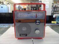 Heartbeat Portable Retro Radio 1960s Reproduction In Red