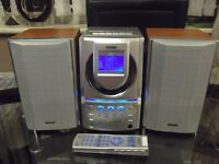 TEAC MICRO CD HIFI WITH SPEAKERS AND REMOTE CONTROL