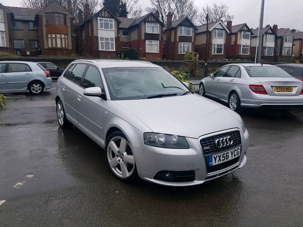 2007 audi a3 2 0 tdi s line manual 5 door sportback silver mot 39 d good runner bargain in. Black Bedroom Furniture Sets. Home Design Ideas