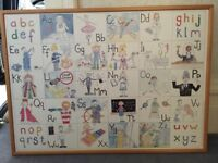Large Children's Alphabet Occupations Framed Picture