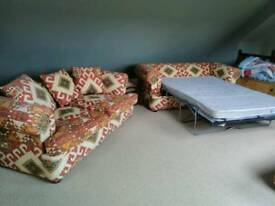 Two Sofas bed and foodstool