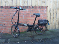 Dahon Vitesse Folding Bike electric 250w Bafang Mid Drive 5 Speed Hub Gears for sale  Durham, County Durham