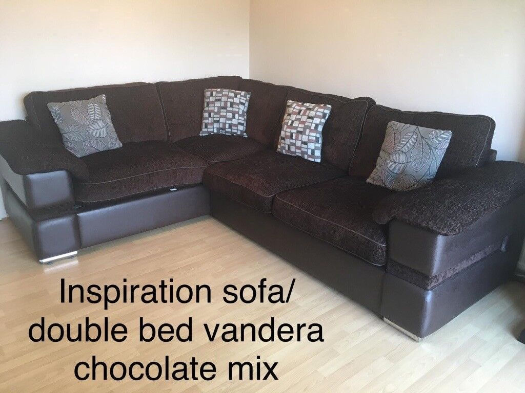 hot sale online 1b6bd 566af Sofology Inspiration sofa double bed chocolate mix corner suite | in  Leicester, Leicestershire | Gumtree