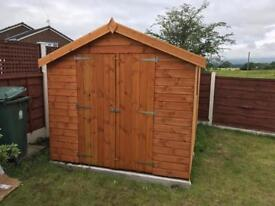 8x8 APEX ROOF GARDEN SHEDS (HIGH QUALITY) £569.00 ANY SIZE (FREE DELIVERY AND INSTALLATION)