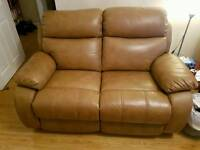 2seater leather recliner sofa