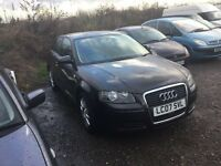 2007 Audi A3 se 3 door hatch with full service history in dark grey lovely driving car cloth trim