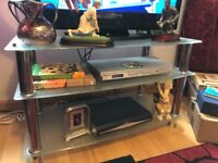 Metal and glass tv stand (Free)