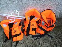 3 kids life jackets excellent condition