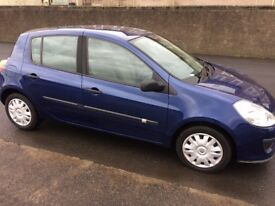 2006 renault clio 1.4 hatchback.full service records/12 months mot/warranty