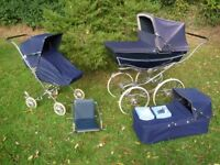 1970's Silver Cross Pram, Pushchair and Carrycot