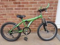 "Childrens Geared Mountain Bike, 16"" Wheels, Suit 7-10Yrs Old, Well Used But Functional"