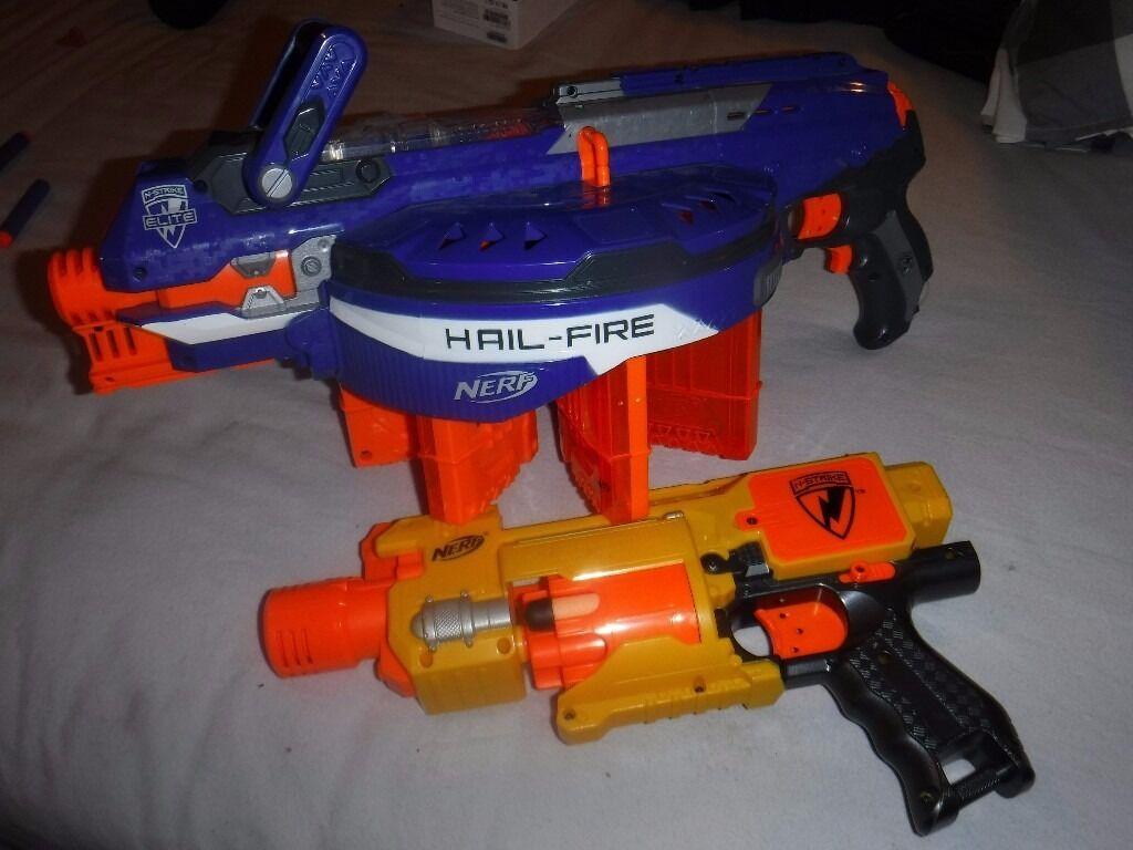 Nerf Guns - Hailfire and Barricade