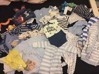 0-3 months bundle of boys clothes