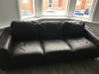 2 x leather sofa