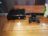 XBOX 360 kinect console, 24 Games and Controller