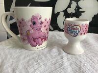 MY LITTLE PONY CHINA MUG and EGG CUP SET