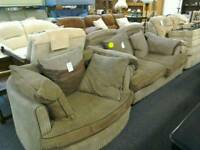 3 seater sofa and swivel love seat #31418 £99