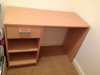 Desk with drawer and shelves - great condition - ideal for home office