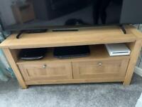 NEXT oak veneer corner tv unit for sale