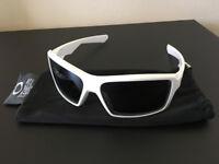 Oakley EyePatch 1.0 Sunglasses White Frame Black Iridium Lenses