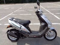 2006 SYM JET 50 EURO X 2T MOPED SCOOTER GWO 40MPH STANDARD MOT & TAX RUNS GREAT