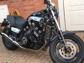 Yamaha V-Max muscle motorbike black and chrome 1198CC 1996