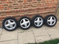 Ford Fiesta focus alloy wheels with tyres