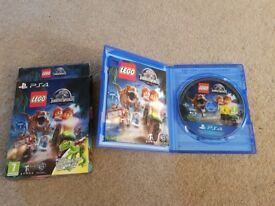 LEGO Jurassic World ps4 game with box