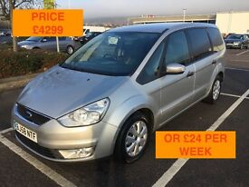 2008 FORD GALAXY TDCI 100 / LONG MOT / PX WELCOME / 7 SEATS / LEATHER / CARDS TAKEN / WE DELIVER