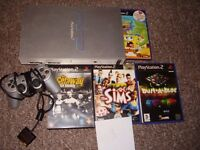 PLAYSTATION 2 WITH GAMES SILVER PICK YOUR OWN 5 GAMES