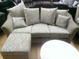 ex display bespoke made ruby split corner sofa or boston grey 3+2 sofas huge reduction in price
