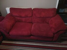 Large 2 seater x2 and arm chair