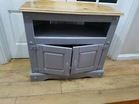 Solid wood storage tv unit and matching sideboard - display table with 2 drawers