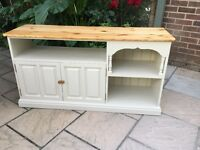 Large Solid Pine Painted TV unit Cabinet Cupboard