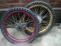 "Pit bike 17"" inch wheels"