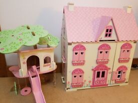 Rosebud dolls house & tree house