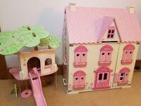 Rosebud dolls house & tree house