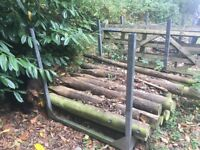2 Galvanised stillages, post pallets, racking. Ideal for storing fence posts or timber