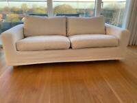 Free! 2.5 seater white sofa