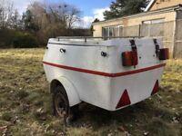 Fibreglass motorcycle trailer