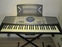 Panasonic Full SIze Electric Keyboard with Stand adn Music Books - Ideal XMAS Present