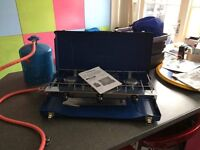 Gas cooker, new never used with new regulator, plus gas bottle (no gas)