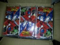 CARBOOT JOB LOT OF 150 TRANSFORMERS ONE SHALL FALL POSTER BIRTHDAY CARDS BOX FULL
