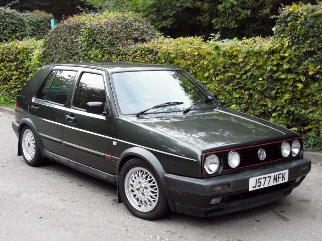 vw golf gti mk2 1 8 8v 5 door 11 months mot bbs alloys oak green power steering in high. Black Bedroom Furniture Sets. Home Design Ideas