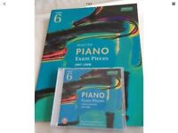 ABRSM GRADE 6 PIANO 2007-2008 SHEET MUSIC BOOK NEW PLUS CD USED GOOD CONDITION