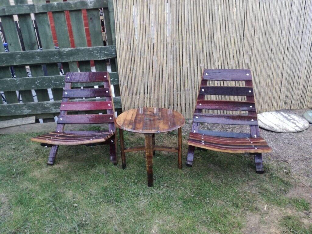 Marvelous Handmade Oak Garden Chairs And Table In Banff Aberdeenshire Gumtree Download Free Architecture Designs Rallybritishbridgeorg